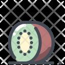 Kiwi Fruit Tropical Icon