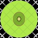 Half Kiwi Fruit Icon