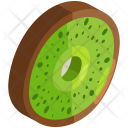 Kiwi Slice Fruit Icon