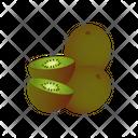 Kiwi With Slice Kiwi Fruit Icon