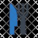 Knife Utensils Fork Icon