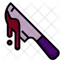 Knife Blood Halloween Icon
