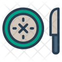 Knife Plate Kitchen Icon