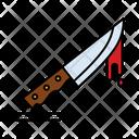 Creepy Halloween Knife Icon