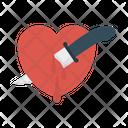 Knife Kill Heart Icon