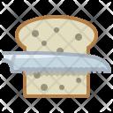 Knife Bread Cutting Icon