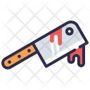 Knife Covered With Blood Icon