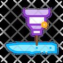 Knife Hole Machine Icon