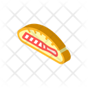 Knife Bread Isometric Icon