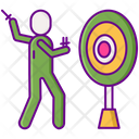 Knife Thrower Dare Devil Knife Perfomance Icon