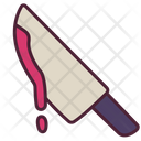 Knife with blood Icon