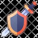Shield Swordman Sword Icon