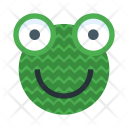 Knitted frog Icon