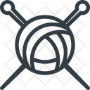 Knitting Needles Tool Icon