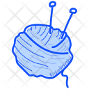 Knitting Needles Wool Icon