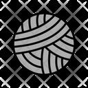 Knitting Ball Textile Icon