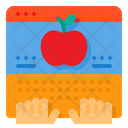 Knowledge Apple Online Learning Icon