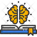 Knowledge Brain Book Icon