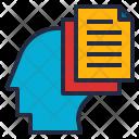 Knowledge Brain Data Icon