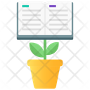 Knowledge Growth Knowledge Development Book Plant Icon