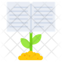 Knowledge Growth Education Growth Book Icon