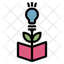 Knowledge Growth Book Growth Icon