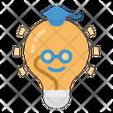 Knowledge Lightbulb Study Icon