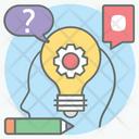 Knowledge Management System Knowledge Development Idea Generation Icon