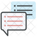Knowledge Transfer Chatting Meeting Icon