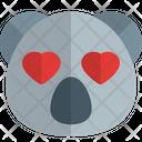 Koala Heart Eyes Animal Wildlife Icon