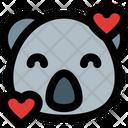 Koala Smiling With Hearts Icon