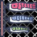 Koi Fish Flag Icon