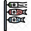 Koi Flag Carp Icon