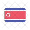 Korea North Flag Country Icon