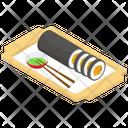 Kimbap Sushi Korean Cuisine Icon