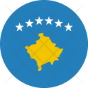Kosovo Flag World Icon