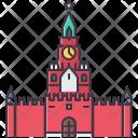 Kremlin Clock Building Icon
