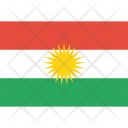Kurdish Kurdistan Flag Icon