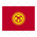 Kyrgyzstan Flag Flags Icon