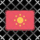 Kyrgyzstan Flag Country Icon