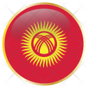 Kyrgyzstan Flag Country Icon