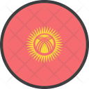 Kyrgyzstan Asian Country Icon
