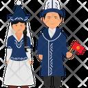 Kyrgyzstan Dress Kyrgyzstan Outfit Kyrgyzstan Clothing Icon