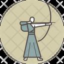 Kyudo man Icon