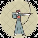 Kyudo woman Icon