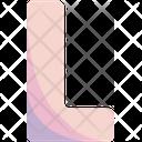L Sign Alphabet Icon