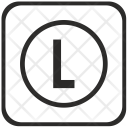L Letter Function Icon