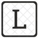 L Uppercase Letter Icon