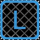 Key L Upper Icon