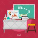 Lab Building Interior Icon